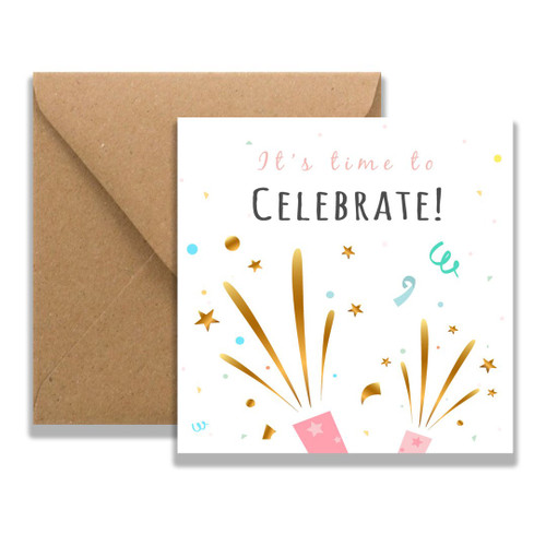 Time to Celebrate Greeting Card