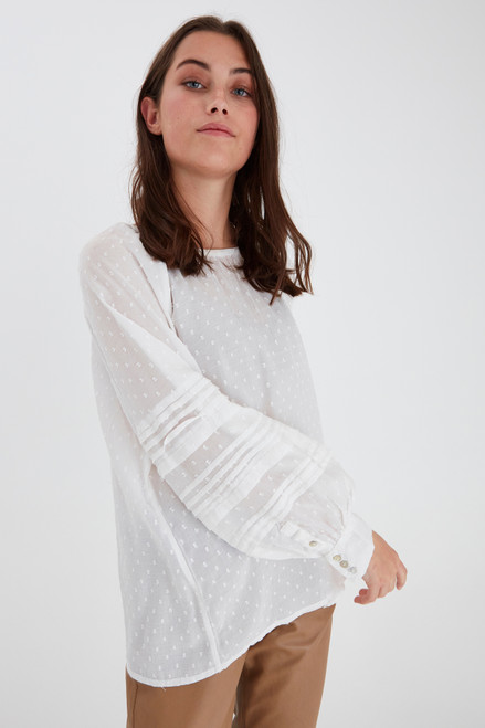 Maise Blouse by Pulz | White Sand