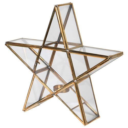 Brass Star Candle Holder * INSTORE COLLECTION ONLY*