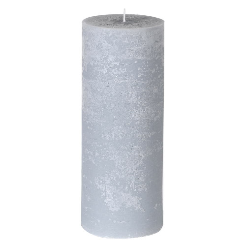 Large Rustic Grey Candle
