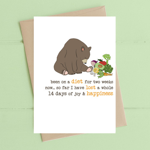 Diet and Happiness Card