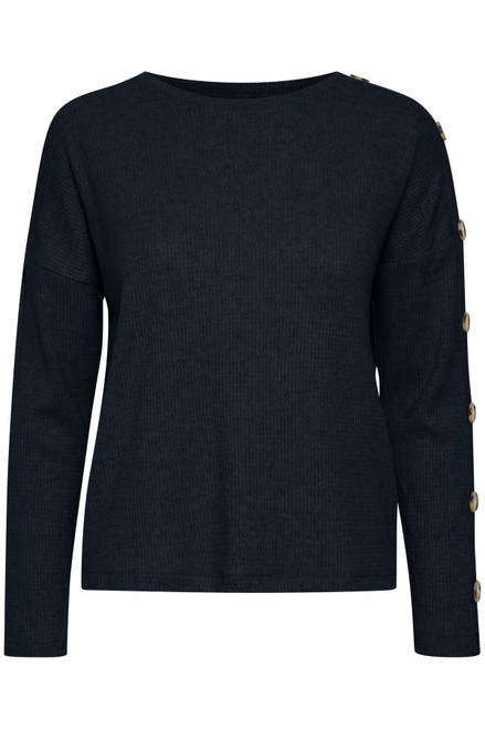 Sanna Knitted Pullover by b.young | Copenhagen Night