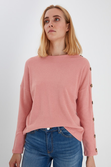 Sanna Knitted Pullover by b.young | Rose Tan