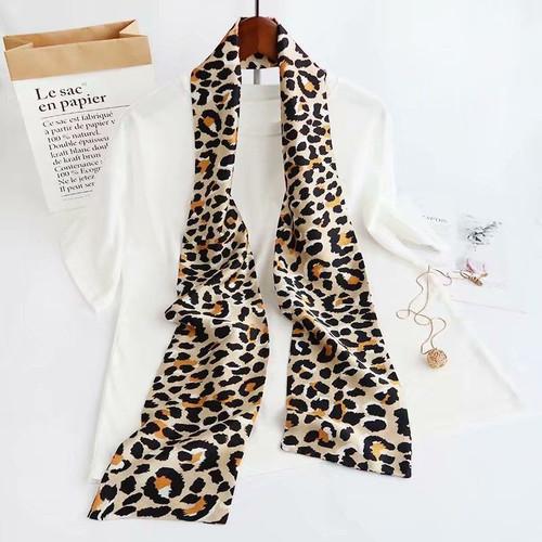 Luna Leopard Neck Tie Scarf