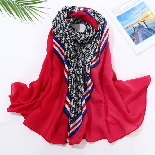 Diana Red Print Scarf