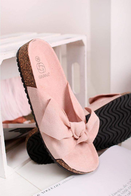 Pink Bow Sliders