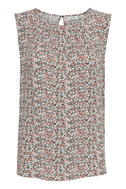 Joella Sleeveless Top by b.young   Rose Tan Floral