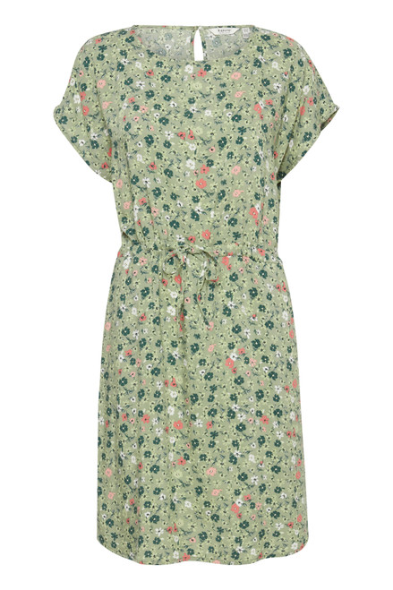 Joella Tie Dress by b.young | Oil Green