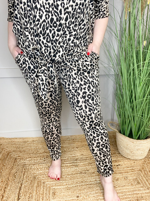 The Stone Leopard Jersey Joggers