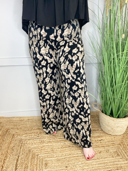 The Stone Cow Print Trousers