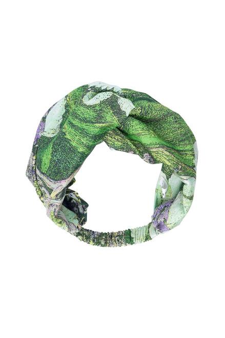 One Hundred Stars Marianne North Hydrangea Lime Green Headband