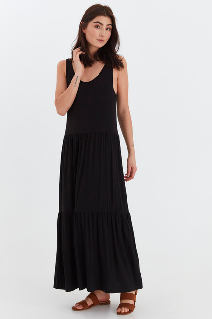 Silia Layered Dress by b.young | Black