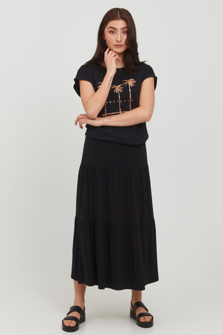 Silia Layered Skirt by b.young   Black