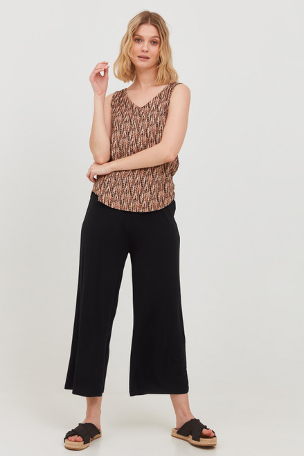 Silia Wide Trousers by b.young   Black