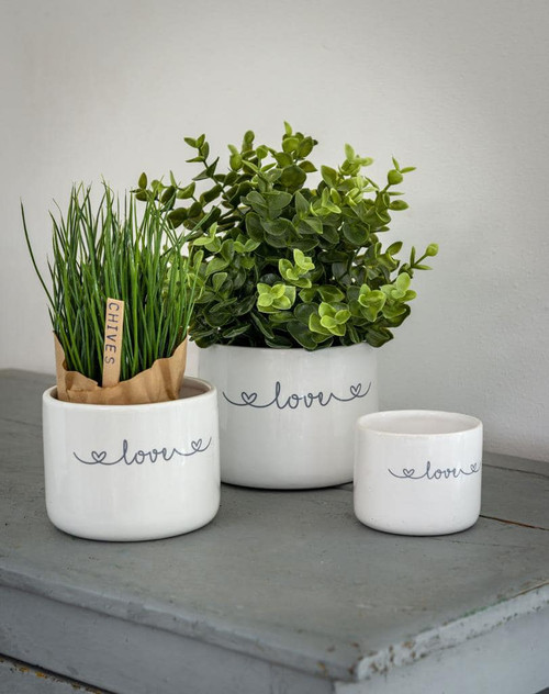 *IN-STORE COLLECTION ONLY* Love Set of 3 Ceramic Pots