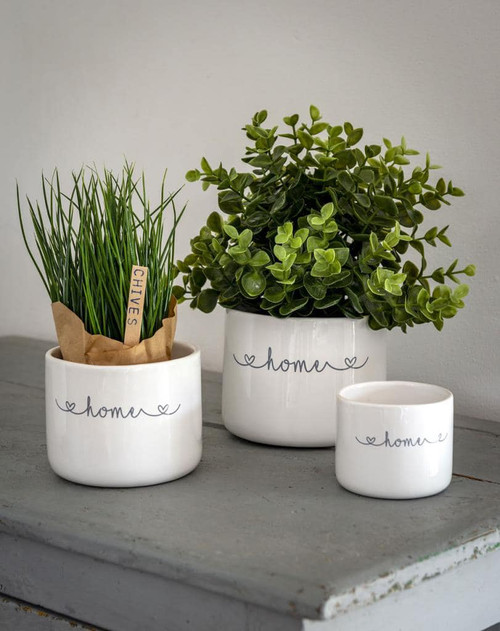 *IN-STORE COLLECTION ONLY* Home Set of 3 Ceramic Pots