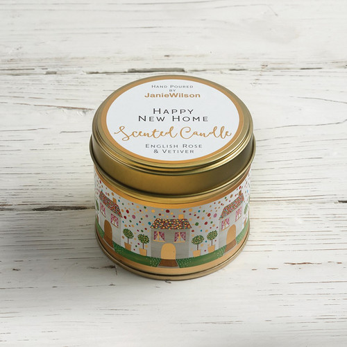 Happy New Home - English Rose & Vetiver Large Candle