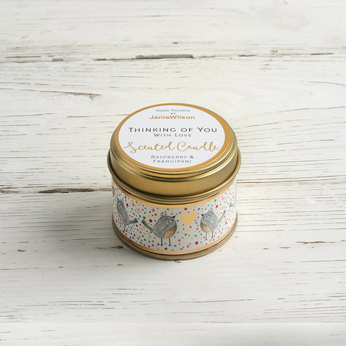 Thinking of You with Love - Raspberry & Frangipani Small Candle