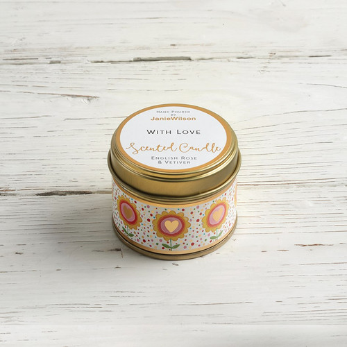 With Love - English Rose & Vetiver Small Candle