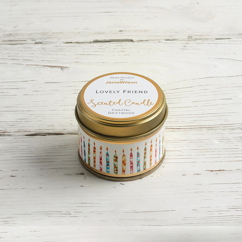 Lovely Friend - Coastal Driftwood Small Candle