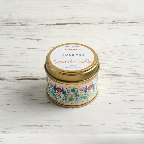 Thankyou - Lily & Sweet Violet Small Candle