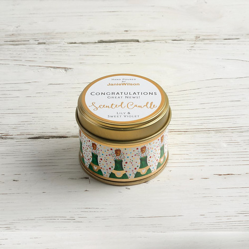 Congratulations- Lily & Sweet Violet Small Candle
