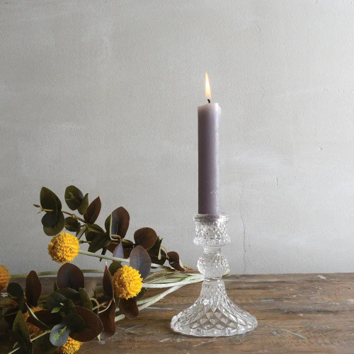Glass Candle Stick Holder