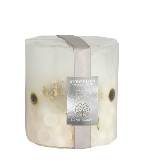 Stoneglow Natures Gift Beach Daisy - Pillar Scented Candle