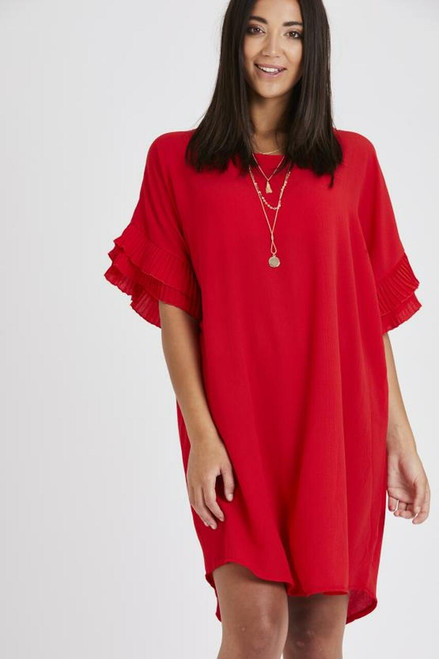 The Amalfi Coast Collection | Red Frill Dress