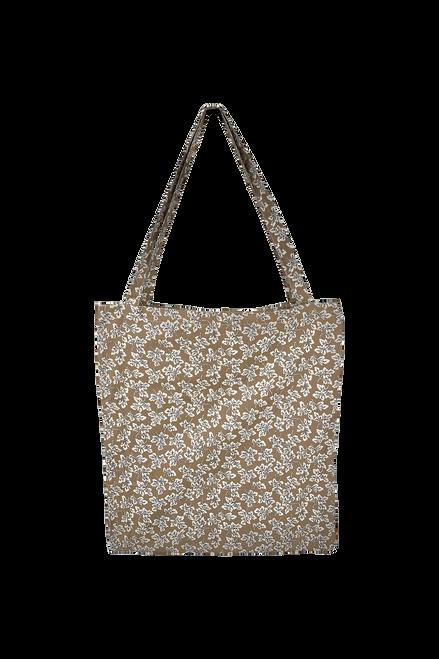 The Lulu Cotton Shopper | Beige Leaf