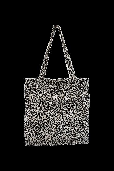 The Lulu Cotton Shopper | Black Leopard