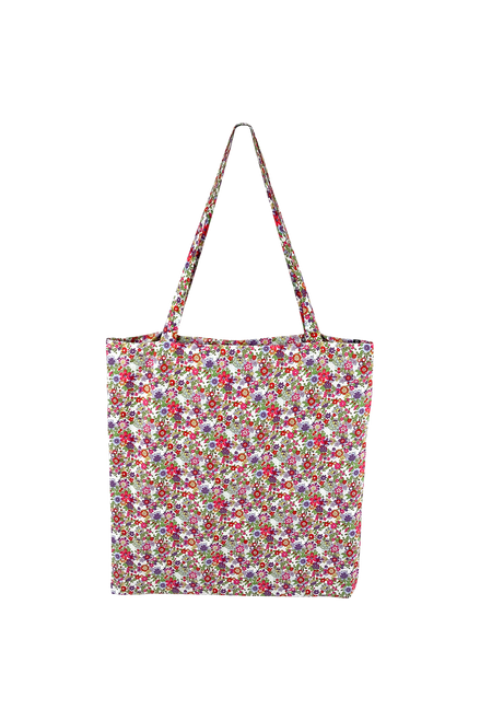 The Lulu Cotton Shopper | Botanical Red