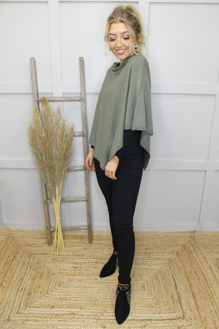 The Basic Poncho by Fransa | Hedge