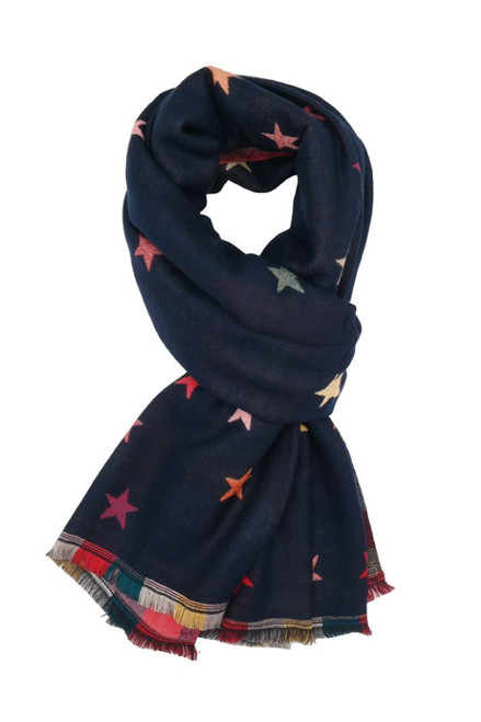 The Storm Star Scarf | Navy