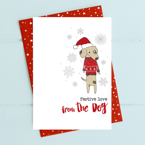 Festive Love from the Dog Card