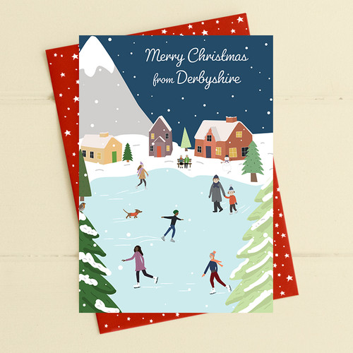 Merry Christmas From Derbyshire Card