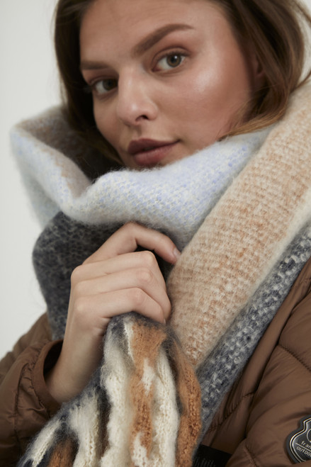 The Be Winter Scarf by Fransa | Tobacco Brown