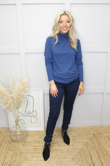 The Toella Ribbed Top by b.young