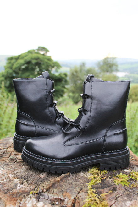 The Tokyo Lace Up Boots | Black