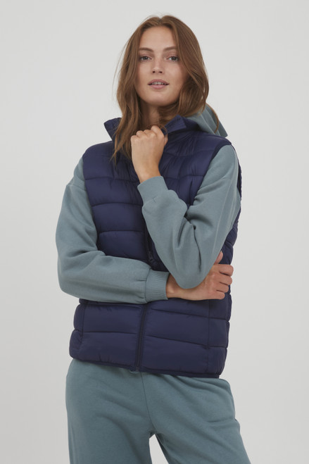 The Belena Padded Waistcoat by b.young | Peacoat