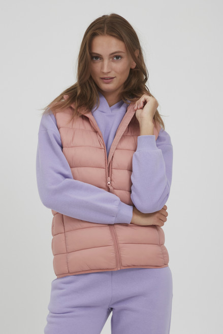 The Belena Padded Waistcoat by b.young | Old Rose
