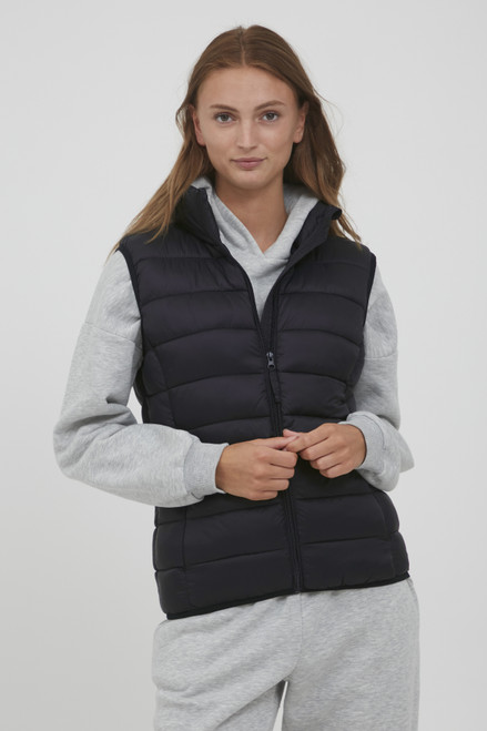 The Belena Padded Waistcoat by b.young | Black