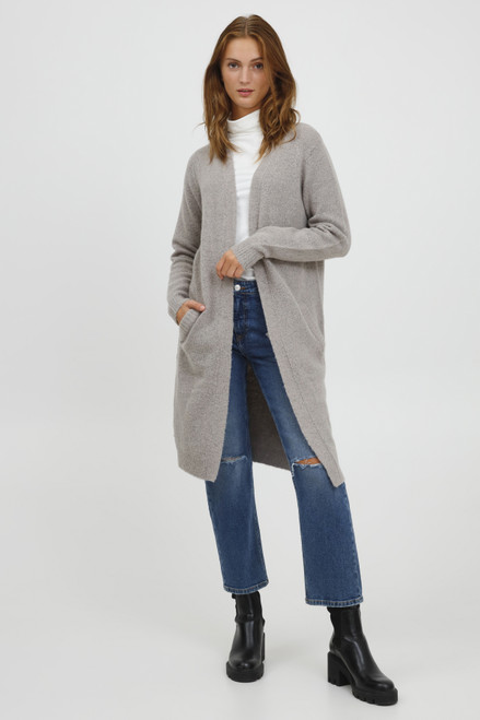 The Mirelle Long Cardigan by b.young | Grey