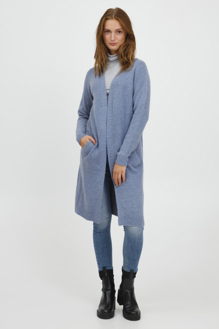 The Mirelle Long Cardigan by b.young | Stonewash