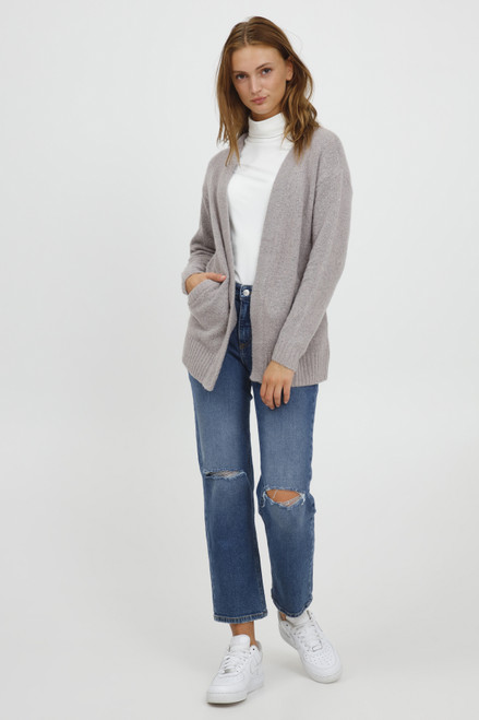 The Mirelle Short Cardigan by b.young | Grey
