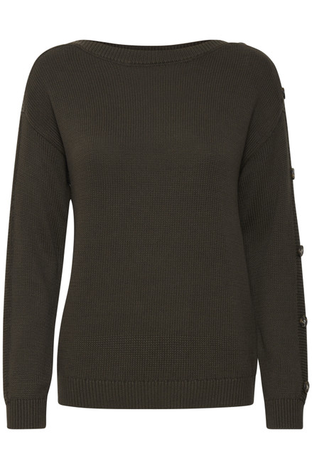 The Lydia Pullover by Fransa | Green Ink