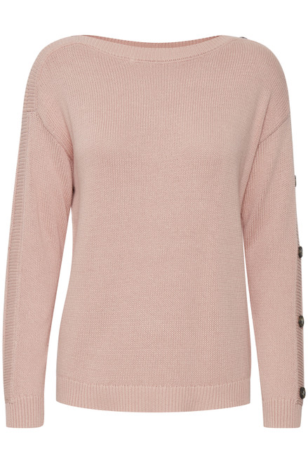 The Lydia Pullover by Fransa |Misty Rose
