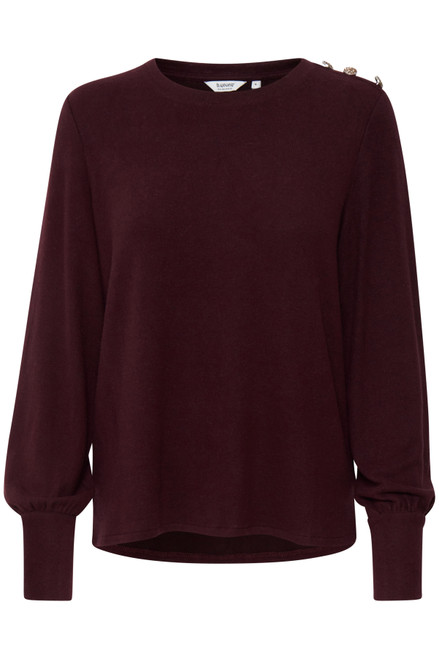 The Simo Button Pullover by b.young | Winetasting