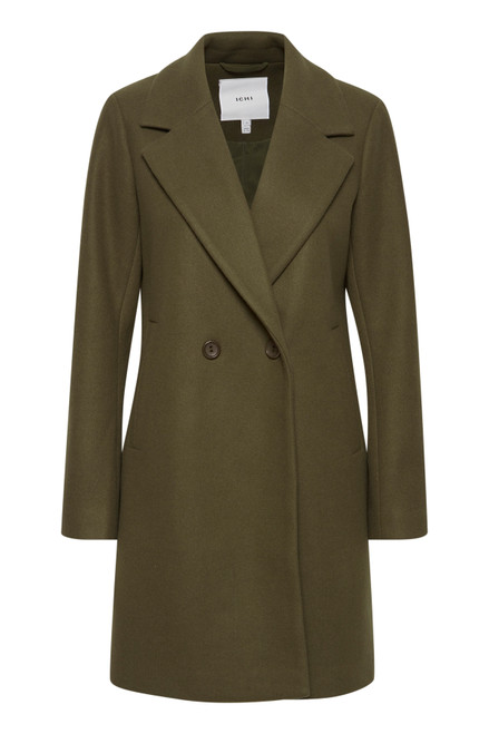 The Jannet Coat by Ichi | Ivy Green