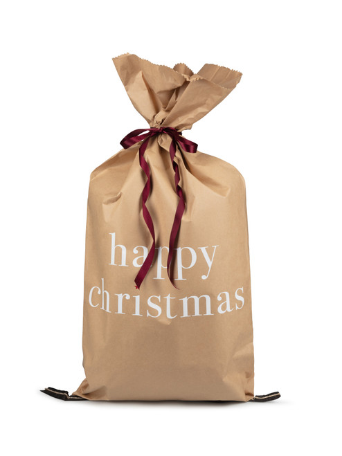 Natural Christmas Paper Sack by Chalk   Happy Christmas
